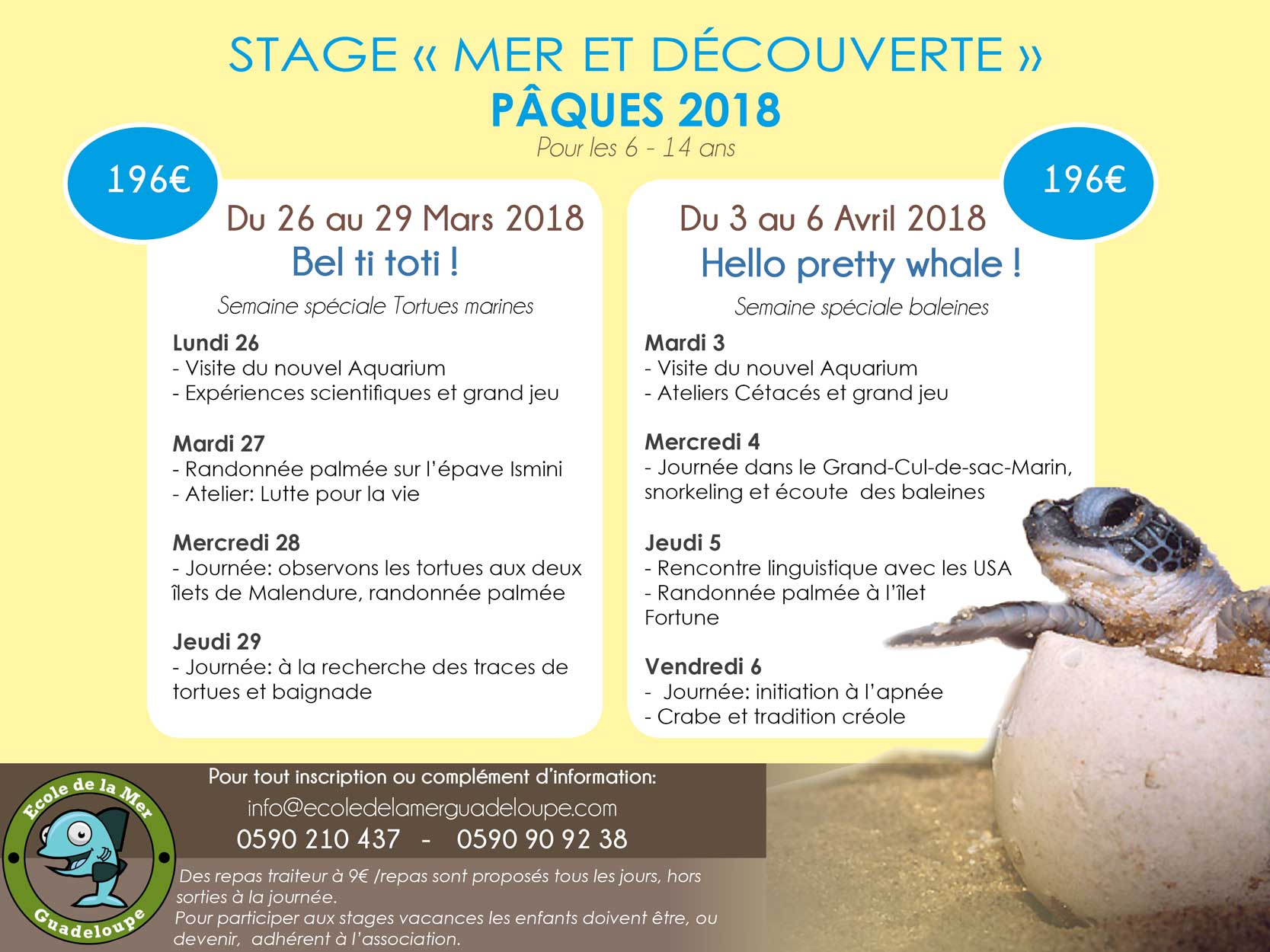 stage paques 2018